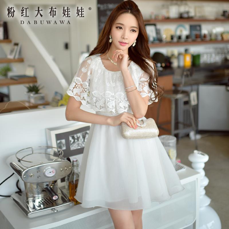 Female Dress Pink Doll 2015 new summer dress lace sleeveless dress summer