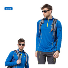 Long sleeve shirt uv protection quick dry t shirt mens blue climbing hiking fishing clothes men outdoor clothing TS5283