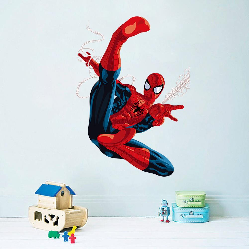 3d cartoon spiderman wall stickers for kids rooms children room wall