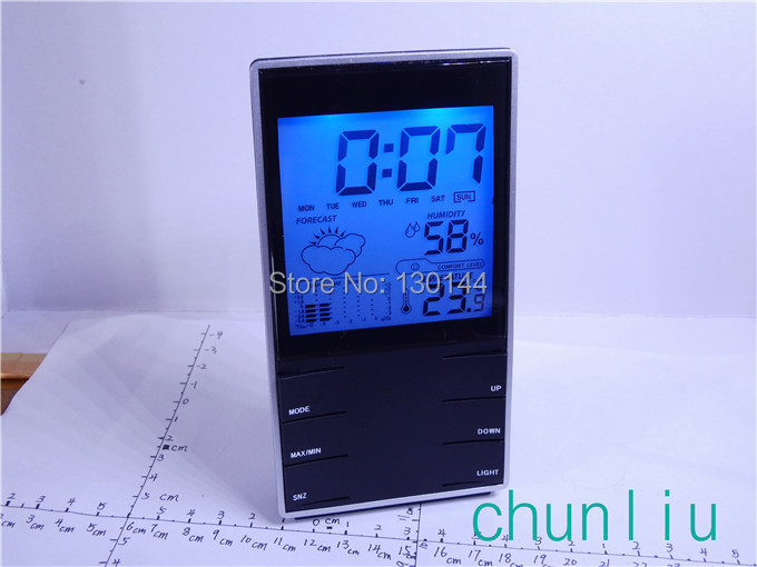 c-4 digital black indoor thermometer measuring temperature meter hygrometer nice humidity - chunliu store