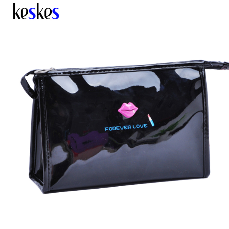 High Quality Patent Leather Makeup Bag Make Up Bags Female Zipper Cosmetic Bag Lady Cosmetic Cases Travel Organizer Bag ZCP138(China (Mainland))