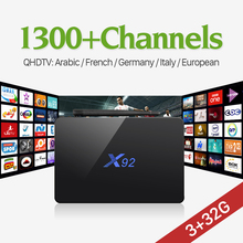 Buy IPTV Box X92 Amlogic S912 Octa-Core Android Tv Box 1 year QHDTV Subscription 1300+ IPTV Europe French Arabic Channels for $83.45 in AliExpress store