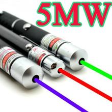 Мощный Зеленый Красный Синий Лазерная Указка Pen Луч Света 5 МВт Профессиональный Военная Высокой Мощности Presenter lazer Горячий Продавать(China (Mainland))