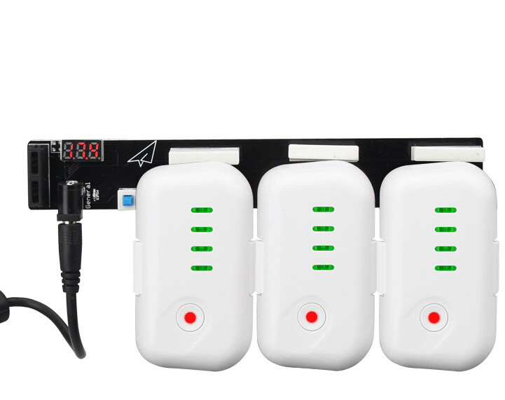 DJI Phantom3 Accessory Battery Parrallel Charger Board 3 Sockets For DJI Battery
