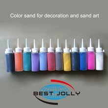 bottled color sand for sand art and decoration color sand 80g/bottle(China (Mainland))