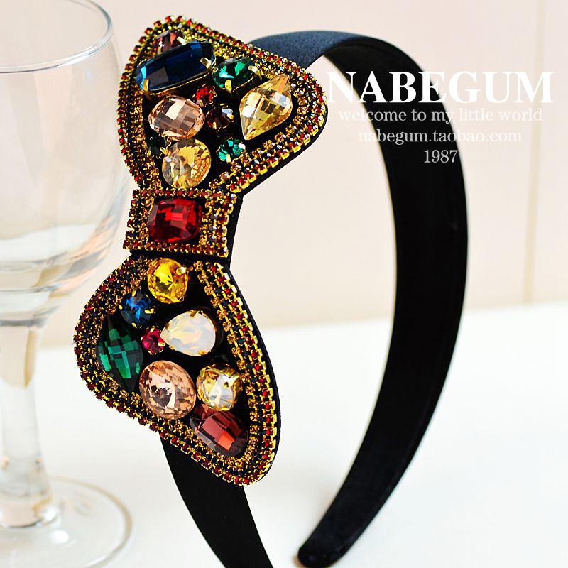 Princess glass rhinestone shape hair bands hair pin hair accessory 3type for choosing(China (Mainland))
