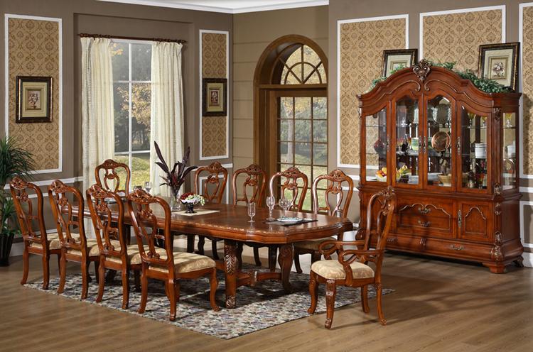 D001 squ madera maciza corona mesa de comedor 8 12 for Comedor wood trendy