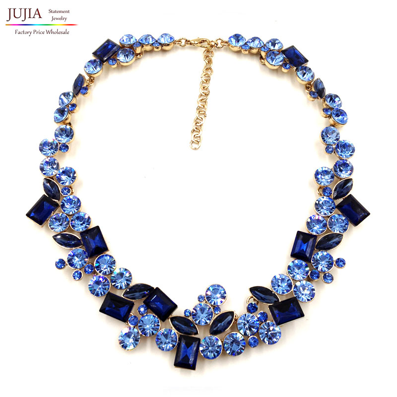 2016 top quality Z full crystal Fashion Necklace choker ...