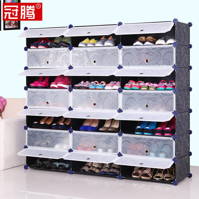 guanteng vari t feuille de r sine grande capacit chaussures trois rang es de simple. Black Bedroom Furniture Sets. Home Design Ideas