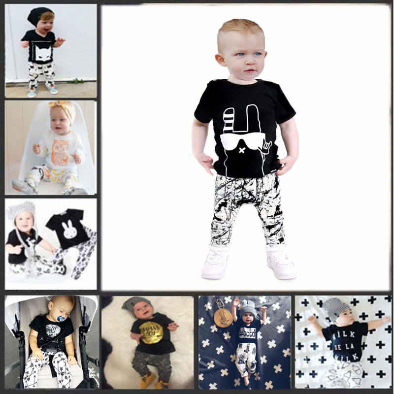 2016 kids boys summer style infant baby boy clothes set baby boy clothing sets cotton little