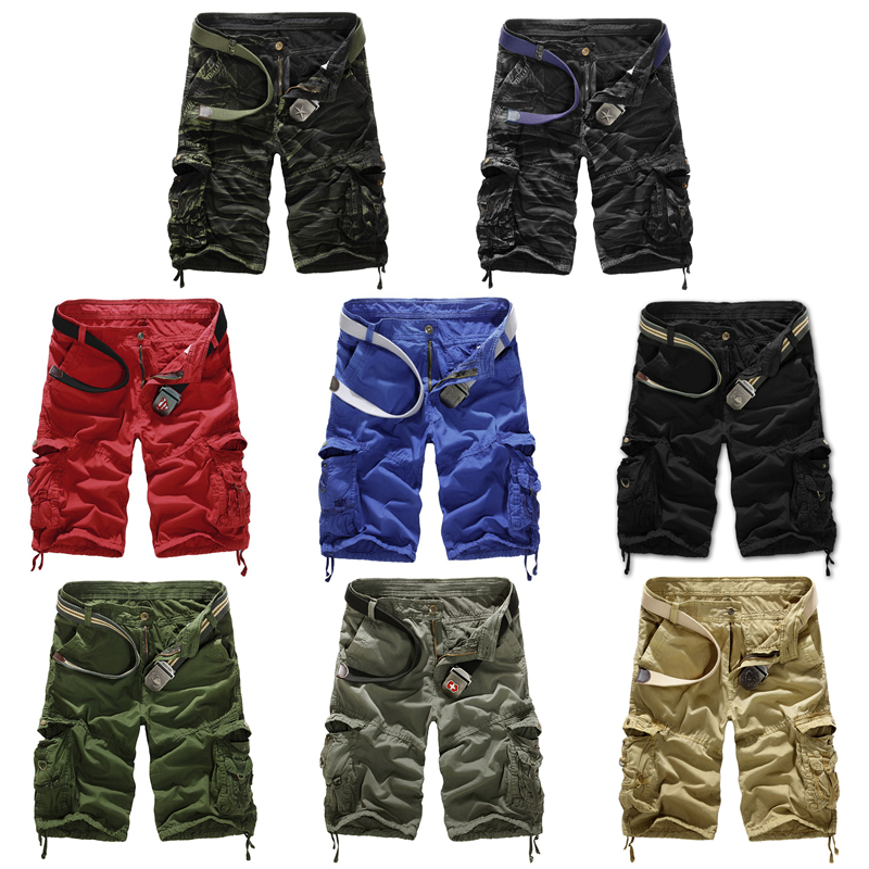 Check out the selection of classic cargo shorts for designs with handy, deep thigh pockets that look terrific when you're on the go. Choose from a muted range of neutral tones that match virtually any top.