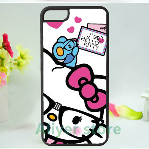 hello kitty sanrio 5 mobile phone case cover for iphone 4 4s 5 5s 5c SE 6 6s & 6 plus 6s plus *vf358(China (Mainland))
