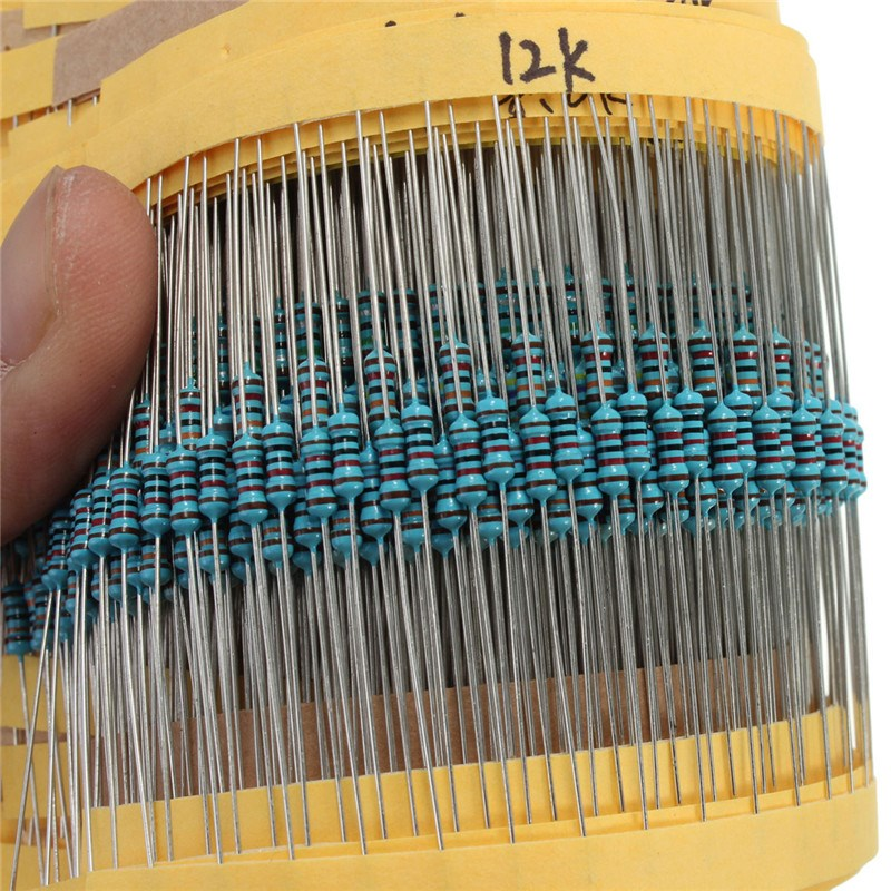 2017 New Excellent High Intensity 1460 pcs Metal Film Resistor Kit Pack Mix Assortment 1/4W 1R to 1M 73 Values Useful Tool(China (Mainland))