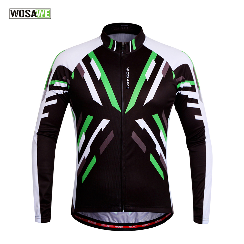 2016 Men WOSAWE Outdoor Bicycle Clothing Long Sleeve Clothing Bicycle Jerseys Clothes MTB Bike Cycling Jersey(China (Mainland))