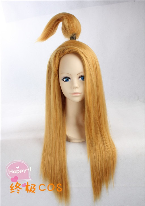 Free Shipping Anime Naruto Akatsuki Deidara Cosplay Wig Straight Blonde Costume Wigs + a free wig Cap(China (Mainland))