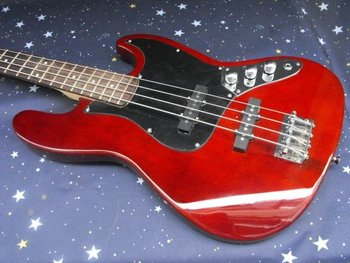 hot sale jazz 4 strings bass Cherry Red bass electric guitar in stock 2011