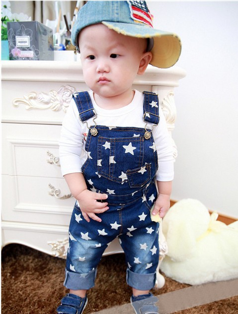 new 2016 spring autumn summer fashion children denim overalls for kids boys baby jumpsuit pants jeans retail free shipping
