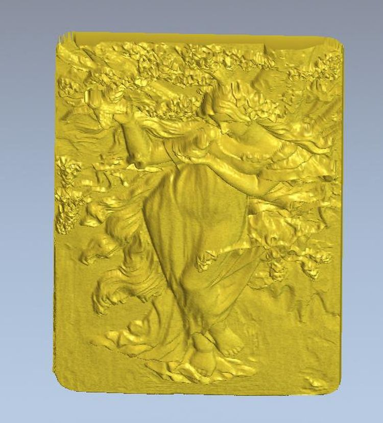 spring lady artcam 3d model relief for cnc in STL file format(China (Mainland))