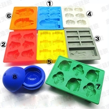 8PCS STAR WARS MOLD REUSABLE ICE CUBE TRAY SILICONE ICE MOLDS  CHOCOLATE PANS  ICE CREAM TOOLS WD-10168(China (Mainland))