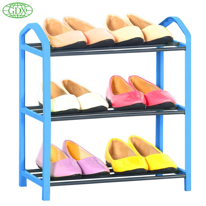 GDX New Standing 3 Tier Shoe Shelf Rack Organizer Space Saving Room Shoe Rack Shoes Organizer DIY Simple Zapatos Organizadors(China (Mainland))
