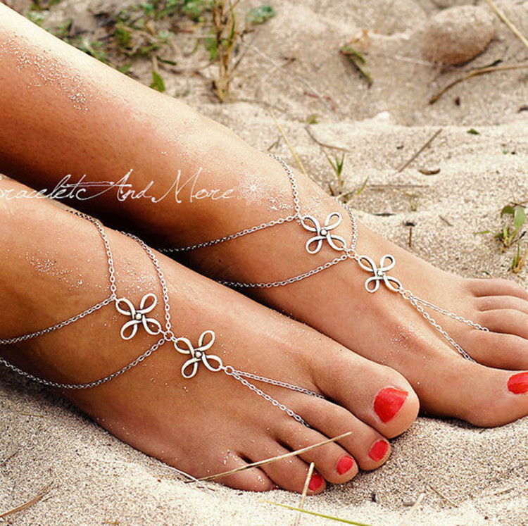 Barefoot Sandals Bohemia Anklets Fashion Jewelry Chain Sexy T Foot Chain  For Girl Women Summer tobilleras AJ-F141   Nice plus size clothing shop for  ... a35003f45635
