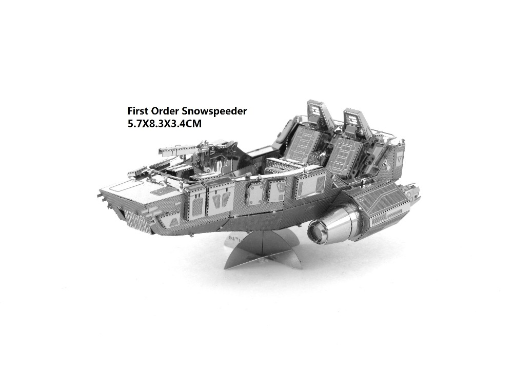 AT ST STAR WARS model laser cutting 3D puzzle DIY metalic spacecraft jigsaw free shipping Star