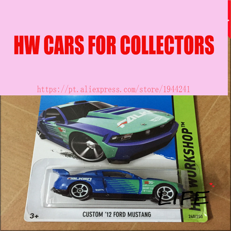Hot 1:64 Cars wheels Custom 12 Fod Mustang Car Models Metal Diecast Cars Collection Kids Toys Vehicle For Children Juguetes(China (Mainland))