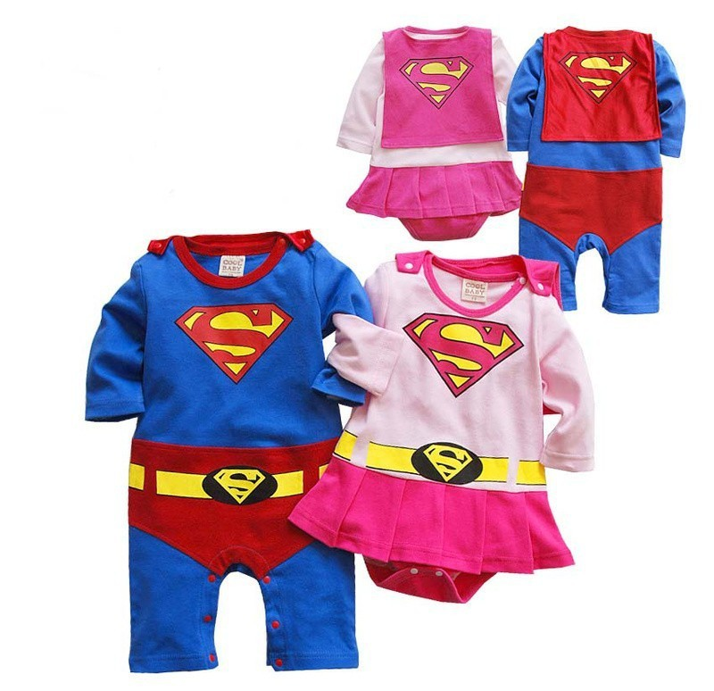 babies rompers infant superman bodysuits bb costumes baby clothes climb clothing<br><br>Aliexpress
