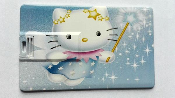 Pen drive Hello Kitty Cat Card USB flash drive, cartoon pendrive Hello Kitty Cat Card bank card U disk(China (Mainland))