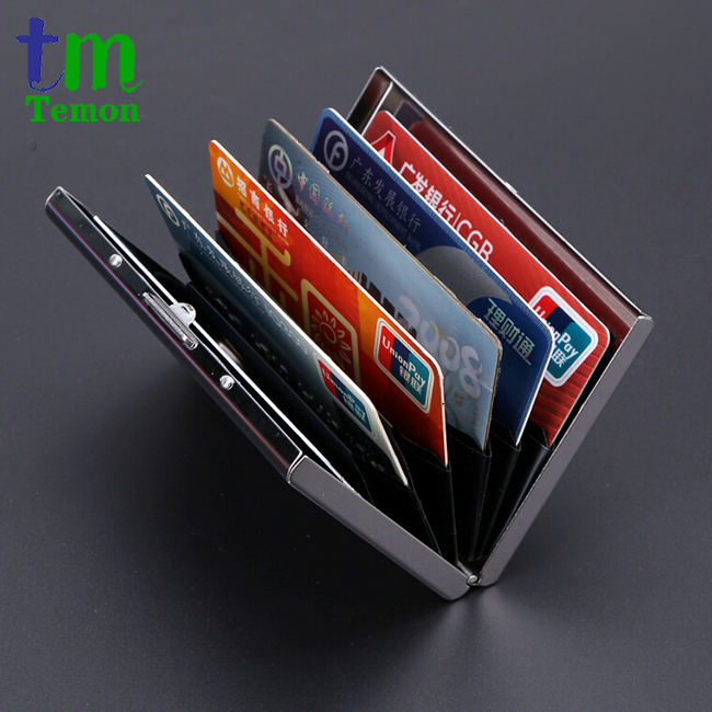 TEMON 2015 new arrival High-Grade stainless steel men credit card holder women metal bank card case card box TW2703(China (Mainland))
