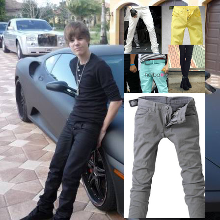 Justin bieber trousers trend tights low-waist pencil pants full - Jimmy Show Store store