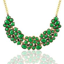 9 Colors Charm Luxury Western Style Hollow Acrylic Pendant Necklace Women Vintage Choker Necklace Jewelry For