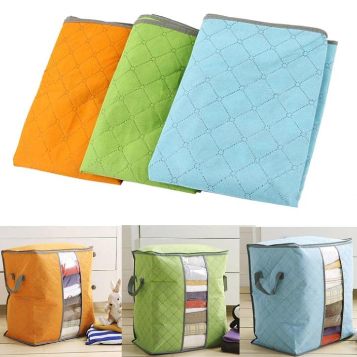 Hot Marketing 2015 Hot Sale Storage Box Portable Organizer Non Woven Clothing Pouch Holder Blanket Storage Bag June11(China (Mainland))