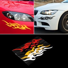 Buy 2pcs Universal Car Sticker Styling Engine Hood Motorcycle Decal Decor Mural Vinyl Covers Accessories Auto Flame Fire & for $1.41 in AliExpress store