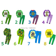 spring teenage Mutant Ninja Turtles children's clothing boys set Pijamas Baby Clothing Kids Sleepwear cotton shirt suit 1 Set
