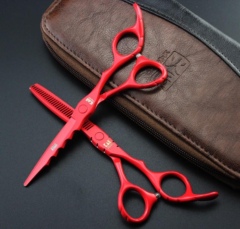 HTB1Yqb.PVXXXXa6aXXXq6xXFXXX0 - 2017 New KASHO Profissional Hairdressing Scissors Hair Cutting Scissors Set Barber Shears High Quality Salon 6.0inch