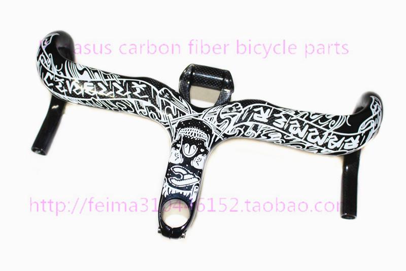 2014 New 2015 Ram Mike Giant full carbon fiber road bike handlebar bend Siamese road bike accessories + Computer Support(China (Mainland))