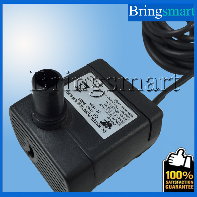 JT-1020 150-280L/H Flow Rate Water Pump 6V 12V DC Brushless Pump 1.6M Water Head Solar Submersible Fountain Pump Mini Pump(China (Mainland))