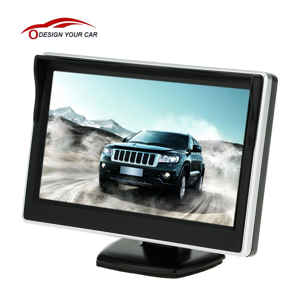 "5"" TFT LCD Car Monitor Auto TV Car rear view camera with mirror monitor Parking Assistance Backup Reverse Monitor Car DVD Screen(China (Mainland))"