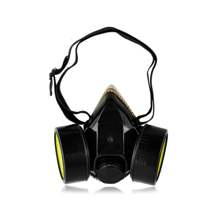 Paint Spray Respiratory Dual Cartridge Emergency Survival Safety Gas Mask face airsoft training mask EG5444(China (Mainland))