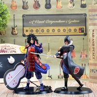 2pcs/lot Naruto Action Figure Cool PVC Japanese Anime Cartoon Toys Uchiha Madara/Sasuke Collection New Arrival  Best Gift