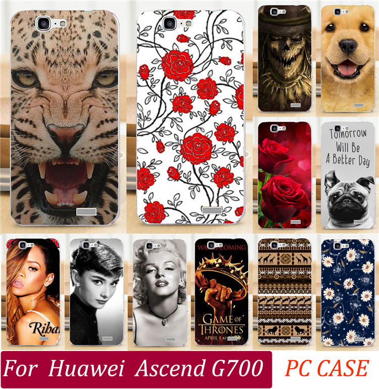 Painted Cases For Huawei Ascend G700 Phone Case Sexy Girl Cool Captain Totem Eiffel Tower Skull Rose Dog Cat Phone Cover Shell(China (Mainland))