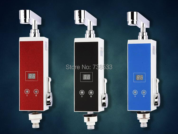 Instantaneous Water Heater Liquid Crystal Display Temperature Induction Heater Electric Shower Water Heating Electric Faucet(China (Mainland))