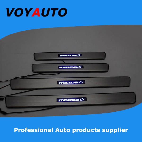 Stainless Steel MAZDA6 LED Scuff Plate,Led Door Sill Plate, Led - VOYAUTO CO.,LTD store