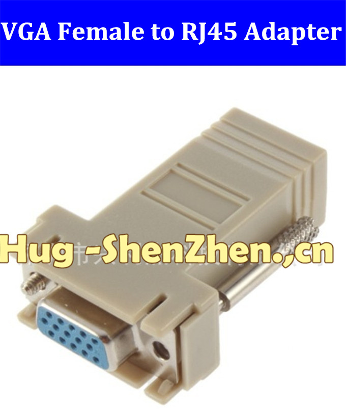 Brand New 100% New 200 pcs VGA To RJ45 adapter Extender To LAN CAT5 CAT5e CAT6 RJ45 Network Cable Female Adapter(China (Mainland))
