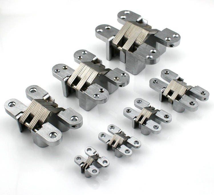 Security Gated Stainless Steel Hidden Cross Door Hinges CSL-04(China (Mainland))