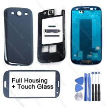 For Samsung Galaxy S3 Neo i9300 i9305 i535 R530 T999 i747 i9301 Original Phone Full Housing Frame Bezel Cover Case Replacement(China (Mainland))