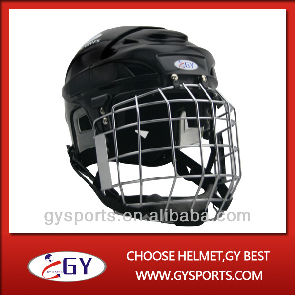 White Helmet White Cage White Ice Hockey Helmet