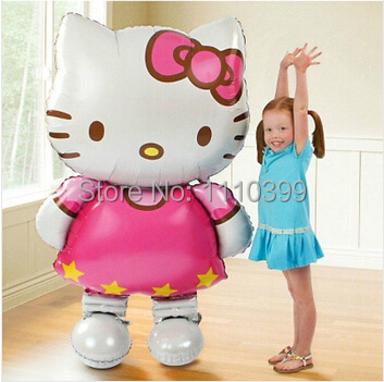 $0.97/pcs large 80*48cm Hello Kitty foil balloons cartoon birthday decoration wedding party inflatable air balloons Classic toys(China (Mainland))