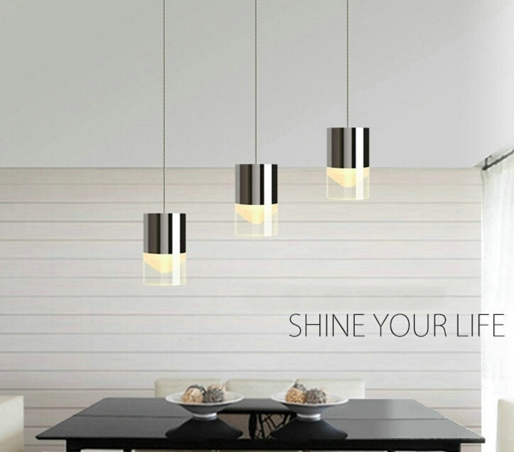 3 lights dinning room LED pendant lamp with suspension cable 110V 220V suspended cylindrical 3/6 heads home deco lighting<br><br>Aliexpress
